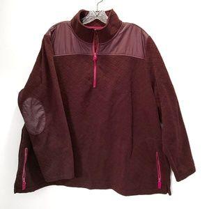 Talbots Zip Fleece Pullover Pockets Plus Size 3x P